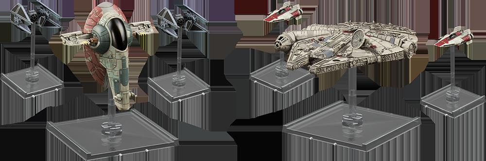 Millenium Falcon e Slave One