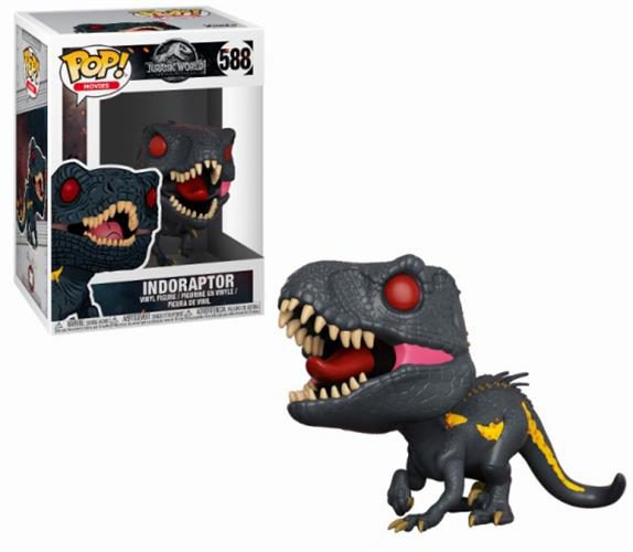 JURASSIC WORLD FALLEN KINGDOM – POP FUNKO VINYL FIGURE 588 INDORAPTOR 9CM