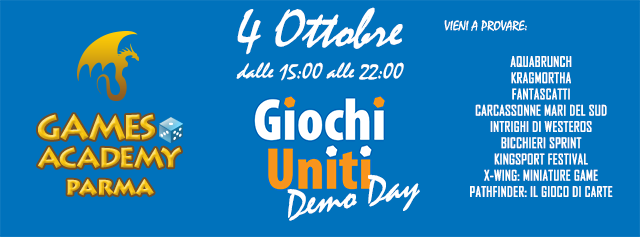 Giochi Uniti Demo Day al Games Academy Parma | Games Academy