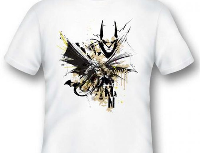 BATMAN01 – T-SHIRT BATMAN ILLUSTRATION S