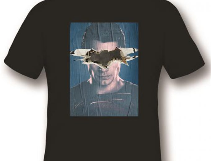 BVS03 – T-SHIRT BATMAN V SUPERMAN – SUPERMAN POSTER – BLACK L