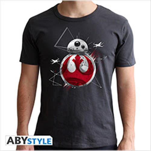 ABYTEX463 – STAR WARS THE LAST JEDI – T-SHIRT BB8 GREY XXL