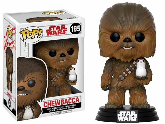 STAR WARS THE LAST JEDI – POP FUNKO VINYL FIGURE 195 CHEWBECCA & PORG