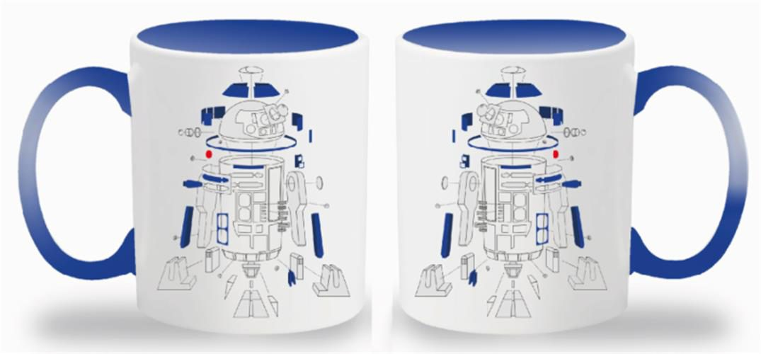 STAR WARS THE LAST JEDI – TAZZA EXPLODED VIEW R2-D2