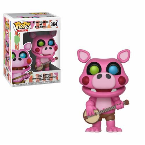 FIVE NIGHTS AT FREDDY'S PIZZA SIMULATOR – POP FUNKO VINYL FIGURE 364 PIG PATCH 9CM